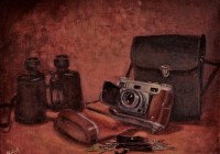 "Still life with Old Camera (12""x16"")"