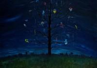 """The kite eater (30""""x24"""")"""