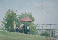 Southport Paintout. Plein Air. Watercolor on paper.