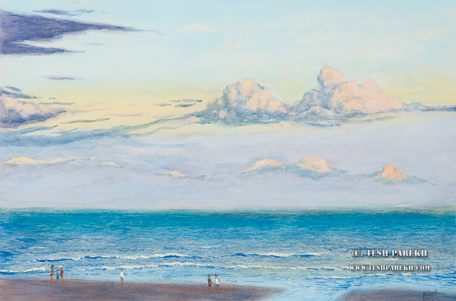 essay on an evening at seashore
