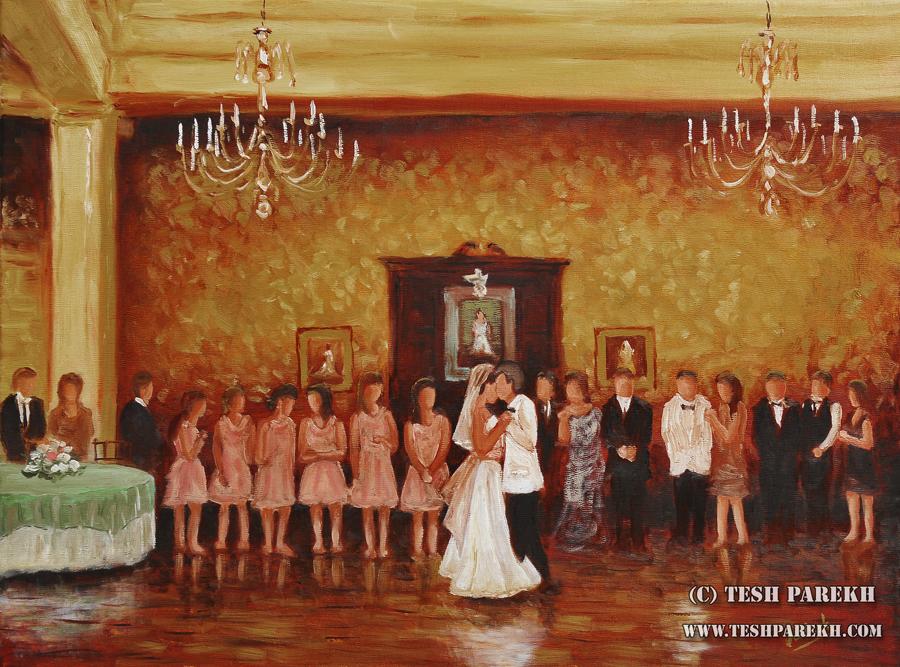 raleigh wedding painter carolina country club wedding painting jordan brent tesh parekh art