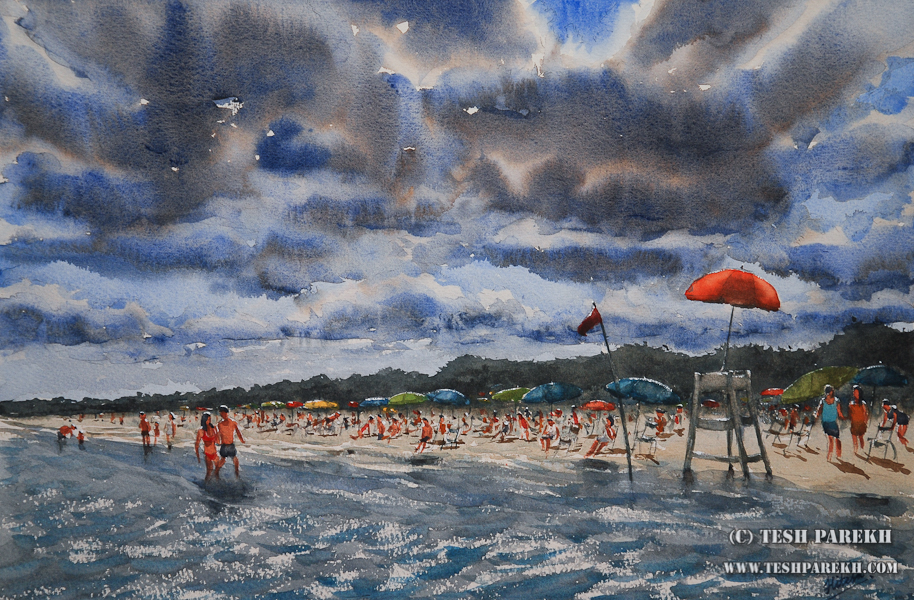 Myrtle Beach SC Watercolor Painting By Raleigh NC Fine Artist