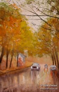Rainwater. 22x14. Watercolor on paper. Artist - Tesh Parekh
