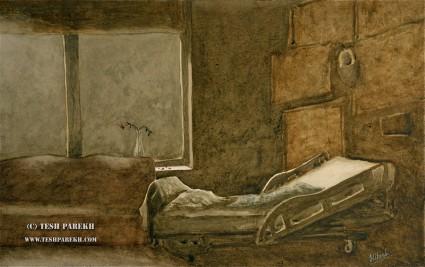 """Departed"". Watercolor. Artist - Tesh Parekh"