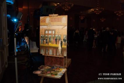 Live Wedding Reception painting at NRCC