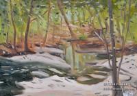 Secret Creek. Plein Air Oil painting on panel.
