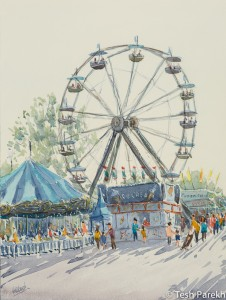 State Fair #2. Watercolor painting on paper.