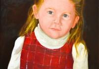 Julia. Oil portrait commission.
