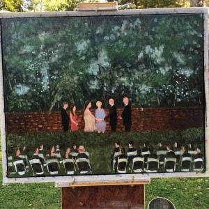 LIVE Wedding Painting by Tesh Parekh, Carol and Bruce, Weymouth, Southern Pines