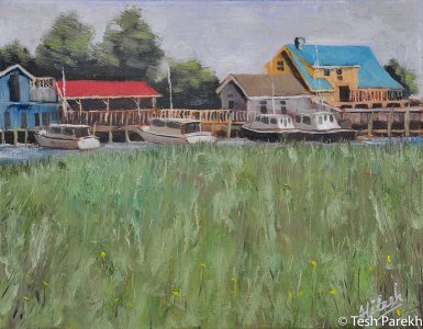 """""""Southport Marsh"""". Southport NC paintings. Oil painting on linen. Original sold- prints available."""
