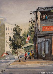 "Raleigh Art - ""Hibernian Pub"". Watercolor on paper. Original sold- prints available"